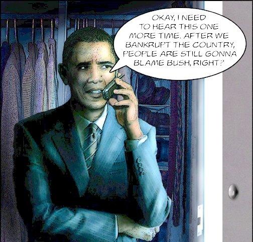Obama Blames Bush